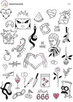 Cute Tiny Tattoos, Dope Tattoos, Little Tattoos, Pretty Tattoos, Mini Tattoos, Small Tattoos, Tatoos, Kritzelei Tattoo, Doodle Tattoo