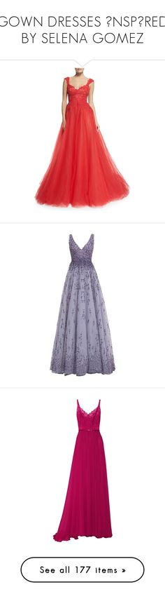 GOWN DRESSES İNSPİRED BY SELENA GOMEZ by rosaregaler on Polyvore featuring women's fashion, dresses, gowns, fire, lace evening dresses, red evening dresses, red lace evening dress, red lace gown, sweetheart ball gown and long dresses
