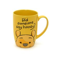 Winnie the Pooh Peek-a-Boo Mug ($11) ❤ liked on Polyvore featuring home, kitchen & dining, drinkware, mugs, accessories and bear mug