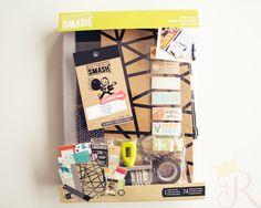 Smash Book Kit - o que é e como fazer um, carimbo, washi tape, post-it, journaling cards