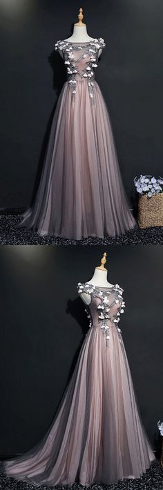 Only $139, Different Black Tulle Long Prom Dress With Cap Sleeves Flowers #MQD17023 at #SheProm. SheProm is an online store with thousands of dresses, range from Prom,Party,Black,A Line Dresses,Long Dresses,Customizable Dresses and so on. Not only selling formal dresses, more and more trendy dress styles will be updated daily to our store. With low price and high quality guaranteed, you will definitely like shopping from us. Shop now to get $10 off!