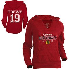 Old Time Hockey Chicago #Blackhawks Toews Women's Cassey Long Sleeve Hoodie T-Shirt. Want.