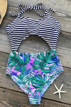 Cupshe No Regret Halter One-piece Swimsuit