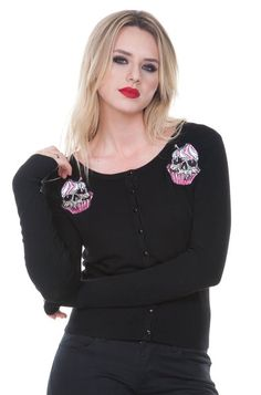 Zombie Cupcake Psychobilly Cardigan | RK Edge, Home of Psychobilly Fashion Clothing