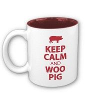 KEEP CALM and WOO PIG Coffee Mug. 50% off today (October 5, 2012) until 4pmCT. Use code: FFHSMUGSBAGS when checking out!