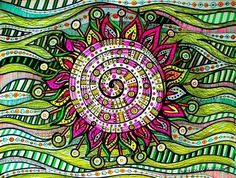 Sun Mandala. Could not trace the artist