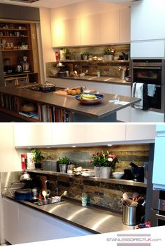 Our Stainless Steel Kitchens What Is Not To Love About This Kitchen A Island With Plenty Of