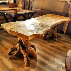 The Most Captivating Manifestations Of Driftwood Furniture That Will Win Your Heart - DIY Aspects Rustic Log Furniture, Driftwood Furniture, Live Edge Furniture, Furniture Projects, Furniture Makeover, Cool Furniture, Furniture Design, Cabin Furniture, Western Furniture