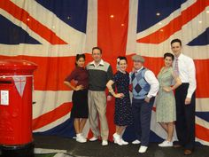 Union Jack Flag used as backdrop at previous event