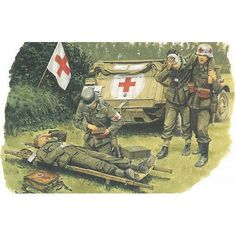Not Weimar anymore, I know! But I am a doctor after all and this is nice artwork, however murderous and wrong the regime behind it was. Medical troops of the Wehrmacht.