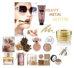 """""""heavy metal glitter"""" by whitecastlenine on Polyvore featuring beauty, Fendi, Givenchy, Victoria's Secret, Major Moonshine, Sephora Collection, Material Girl, Burberry, Urban Decay and Oribe"""