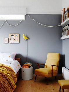 Top Ten Australian Homes of 2016 · Jo Dabrowski and Andrew Fisher — The Design Files Grey Room, Gray Bedroom, Home Bedroom, Bedroom Decor, Bedroom Ideas, Emerald Bedroom, Bedroom Yellow, Bedroom Designs, Modern Bedroom