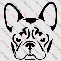 Bulldog Frances, Orejas, Perro, Animal - Pegatina Envío Gratis - Adhesivos de Vinilo