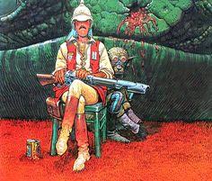Major na ljetovanju El Mayor Fatal en el garaje hermético 1976-79 - moebius