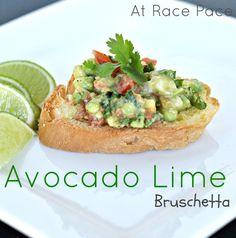 Avocado Lime Bruschetta - This looks AMAZING!