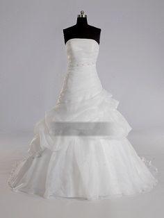 Train White Beading Wedding Dress Shop uk