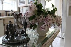 lilacs and silver