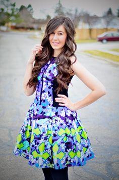 Peter Pilotto Dress on the blog! (black dress, blue dress, floral dress, flower dress, ootd, peter pilotto, peter pilotto dress, poofy dress, purple dress, target collection, target dress, target style, tulle dress, )