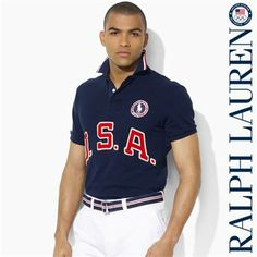 Ralph Lauren Olympics Team USA Fit Mesh Polo
