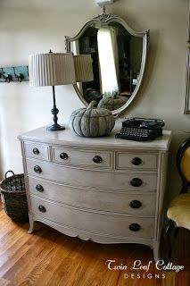 Vintage Dresser Makeover - Homemade Chalk Painting Tips