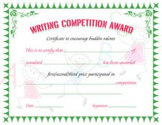 writing awards and competitionsuite