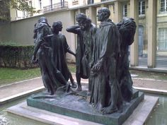 Rodin Museum, Paris,  Burghers of Calais completed in 1889.  I first saw a cast of this work at the National Gallery of Victoria as a teenager and was fortunate to see it in situ at the house where Rodin lived, which was turned into a museum.