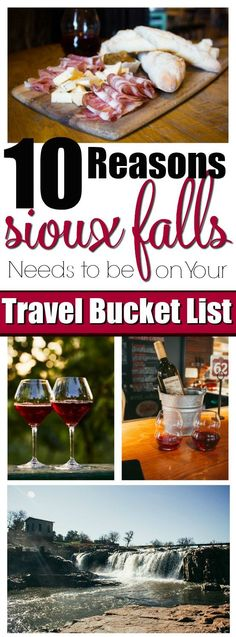 10 Reasons Sioux Falls Needs to Be On Your Travel Bucket List- https://ooh.li/5316fdc Sioux Falls is the up and coming tourist destination of the Midwest! Foodies, romance seekers, shopping, culture and art galore! Enter for your chance to win a trip for four to Sioux Falls! #WeAreHereSF #HiFromSD #ad