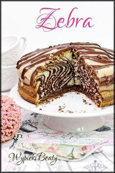 Zebra, czyli pyszna babka w zwierzęcy wzorek :) Cheesy Recipes, Polish Recipes, Sweet Cakes, Chocolate Desserts, Food Design, Cake Recipes, Cake Decorating, Food Porn, Good Food