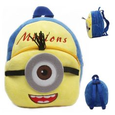 Just 9.95$ - great gift for your toddler - cartoon backpacks collection - one eyed minion