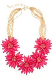 Seraphina Cerise Bloom Necklace