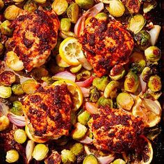 One of our all-time favorites: Sheet-Pan Paprika Chicken Thighs with Brussels Sprouts