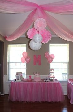 Unicorn Baby Shower Backdrop With Baby's Name On Blocks . 38 Adorable Girl Baby Shower Decor Ideas You'll Like . Mary Had A Little Lamb Baby Shower Pretty My Party . Pink Birthday, 1st Birthday Parties, Birthday Ideas, Balloon Decorations, Baby Shower Decorations, Bridal Shower Balloons, Barbie Party, Pink Parties, Girl Shower