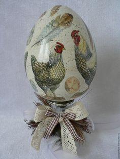 Купить Яйцо пасхальное, Декупаж - комбинированный, Пасха, пасхальное яйцо, подарки на пасху, пасхальный декор