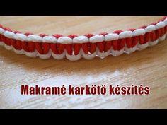 Makramé karkötő készítés - YouTube