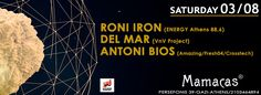 This Saturday at Mamacas i play along with Roni Iron and Del Mar!