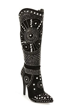 Free shipping and returns on Lauren Lorraine 'Lola' Pointy Toe Studded Boot (Women) at Nordstrom.com. You won't lack for razzle dazzle in these glamorous Western style boots with a pointy toe, sky-high heel and spellbinding arrangements of gleaming rhinestones and studs.