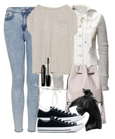 """""""Malia Inspired Outfit with Low Top Converse"""" by veterization ❤ liked on Polyvore featuring Aéropostale, Topshop, Zara, Converse, Warehouse and Forever 21"""