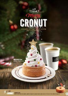 caffe Tiamo Food Design, Food Graphic Design, Christmas Goodies, Christmas Desserts, Christmas Food Photography, Cafe Posters, Christmas Campaign, Restaurant Menu Design, Café Bar