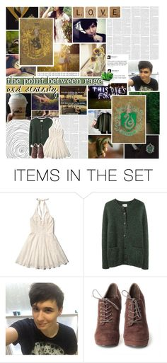 """Slytherin and Hufflepuff"" by childofolympus ❤ liked on Polyvore featuring art, harrypotter, slytherin, hogwarts, Hufflepuff and Olympianextras"
