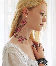 butterfli, yoga tattoo, neck tattoos, tattoo iii, flowers