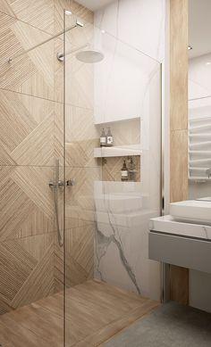 Modern and warm apartment in Katowice Poland - Dezign Ark (Beta) Modern Luxury Bathroom, Bathroom Design Luxury, Modern Bathroom Design, Washroom Design, Toilet Design, Warm Bathroom, Small Bathroom, Bathroom Design Inspiration, Bathroom Renovations