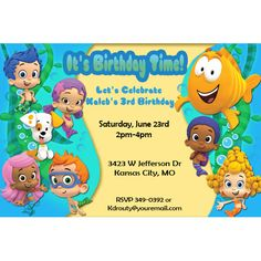 Bubble Guppies Birthday Party Invitation