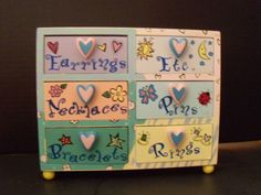 Whimsical Hand Painted Jewelry Box