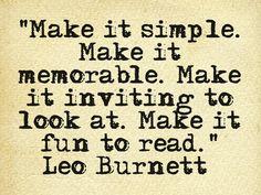 Advertising quote | Leo Burnett | QOTD | writing
