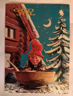 Sendt Lisleby Gnomes, Troll, Auction, Magic, Illustration, Christmas, Painting, Art, Xmas