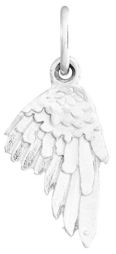 Helen Ficalora Angel Wing Mini Charm Sterling Silver. As Seen On: Oprah Winfrey, Julianne Moore, Gwyneth Paltrow, Tina Fey, Anne Hathway, Blake Lively, Jennifer Garner and many more. As Seen In: Ellen, Oprah, Martha Stewart, Glamour, Vogue, People Magazine, The Real Housewives, Steve Harvey, The Price is Right and many more. Made With Real Solid Sterling Silver. Made in the United States. *Products May Appear Larger In Photos Than In Person.