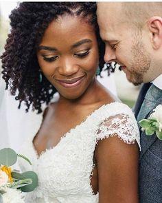 ❤️❤️Beautiful interracial couple wedding photo
