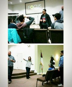 """Playing a little """"FFEACH"""" tonight at Focus! Aka charades with the categories of Fast Food, Electronic Appliances, and Cartoon Heroes. Way to play, guys! #focusrag #groupgame #ffeach http://xboxpsp.com/ipost/1477982706523442544/?code=BSC2XDegA1w"""