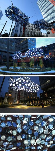These new cloud-like sculptures are constantly changing throughout the day
