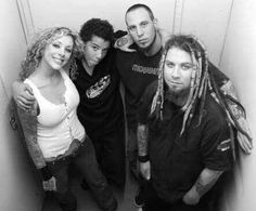 From left to right = Ms. Maria, her son Davion, Travis Johnson, and Chris Howorth Nu Metal, Heavy Metal, Good Music, My Music, Maria Brink, Women Of Rock, Halestorm, My Soulmate, Great Bands